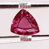 Natural reddish-pink sapphire